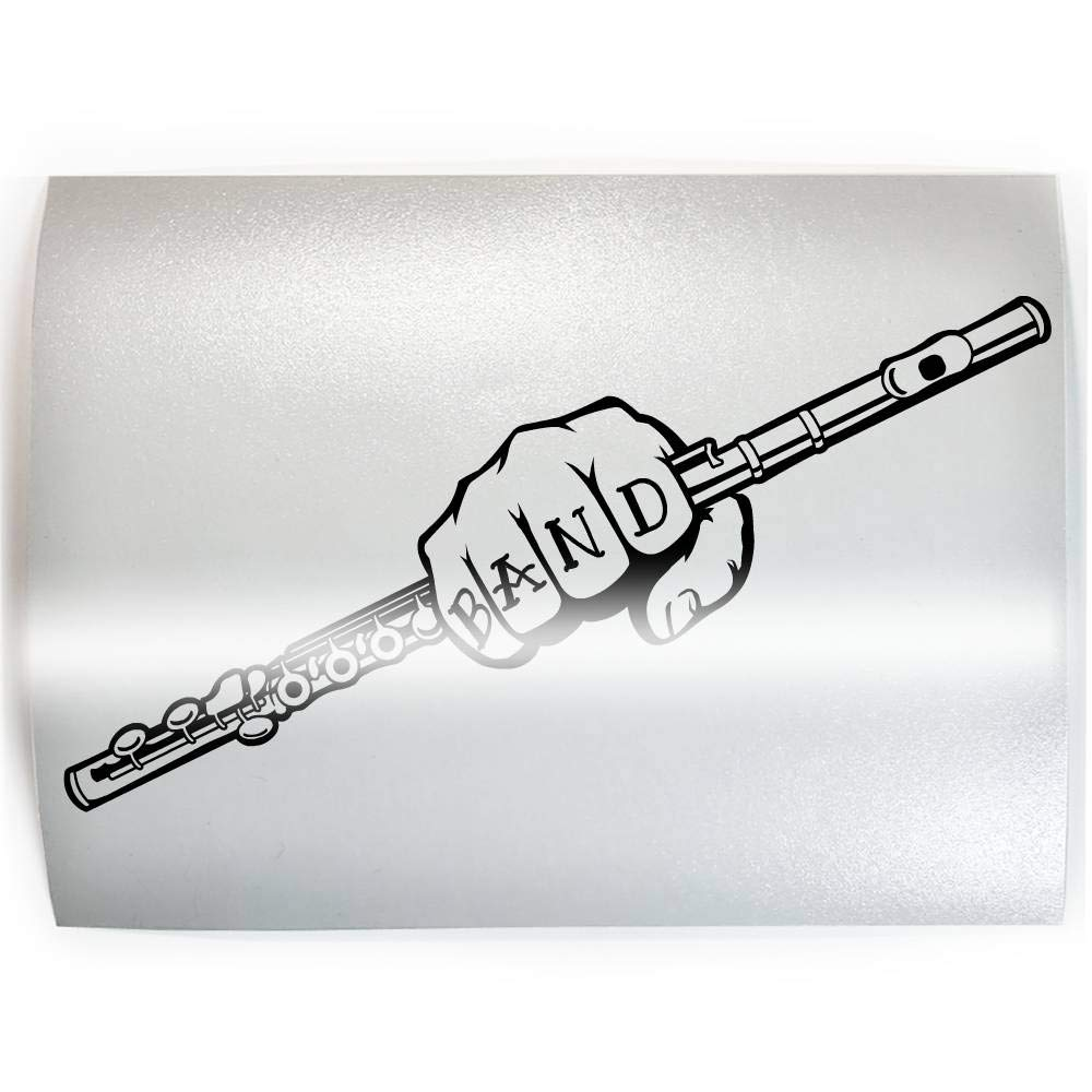 Bombing new work BAND Flute - Ranking TOP15 PICK COLOR SIZE Sti Vinyl Decal Marching Player