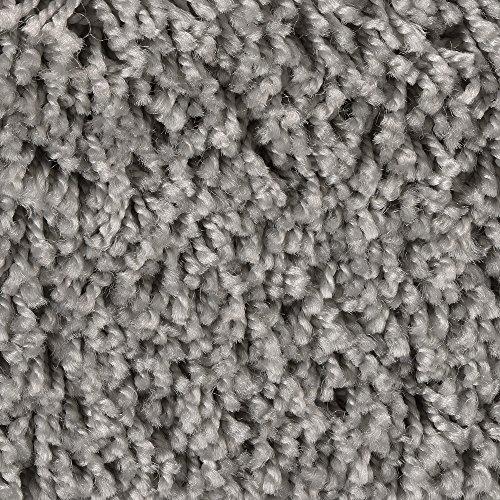 Teppichboden Auslegware Meterware Hochflor Shaggy Langflor Velour grau 400 und 500 cm breit, verschiedene Längen