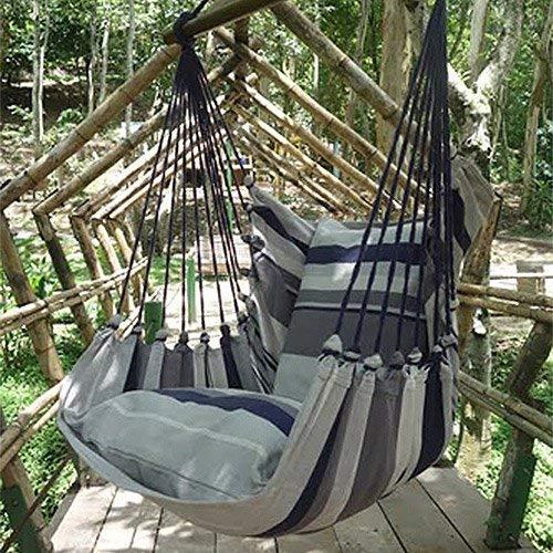 Holzenplotz Hängesessel Hängematte Hängestuhl aus Baumwolle mit 2 Kissen 3 Größen lieferb. Größe L 300