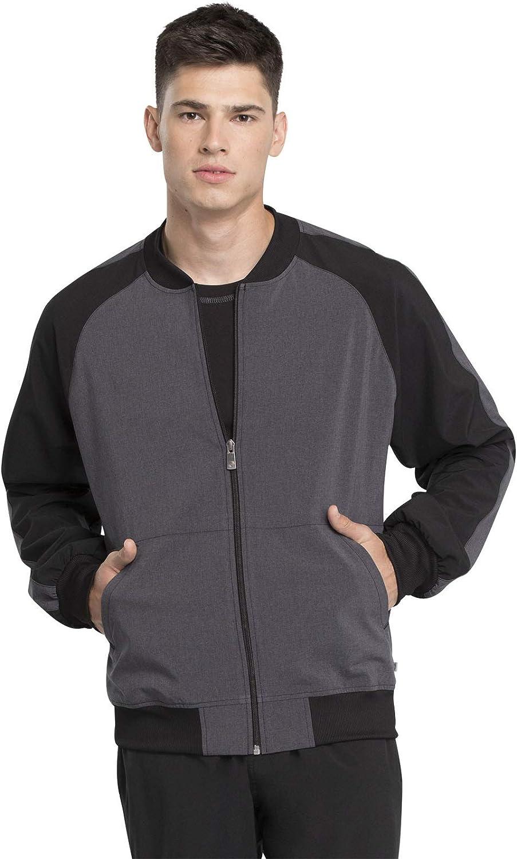 Cherokee Infinity Men Warm Up Colorblock Tulsa Mall Scrubs Jacket Zip Max 87% OFF Front