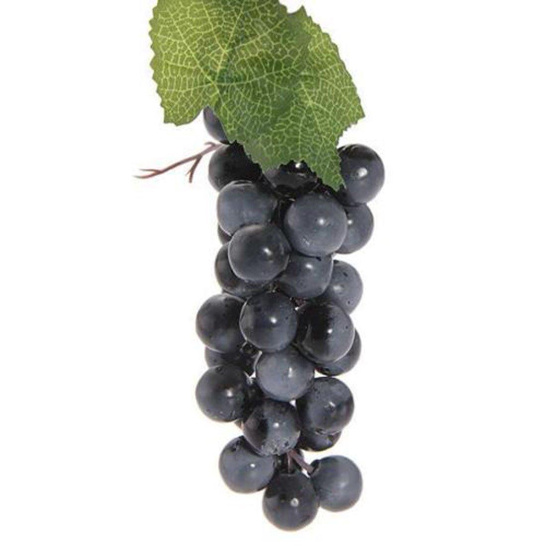 black Simulation Fruit Artificial 22-85 grain Fruit Grapes Plastic Fake Decorative Fruit Lifelike Wedding Party Garden Decor