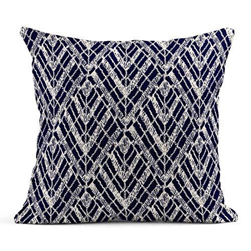 Kinhevao Cojín Jacquard Patrones de Punto Crochet Mesh Knitting Woven Macrame in The Bohemian Oriental Motifs Brocade Linen Cushion Home Decorative Pillow