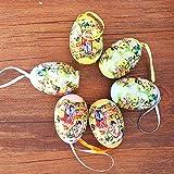 Huevos de Pascua Manualidades de Actividades Colorida Huevos Plásticos,Huevos de purpurina hechos a mano para niños,,Pegatinas de Diamantes de Imitación para (F)