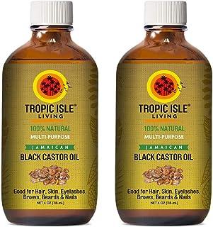 Tropic Isle Living Jamaican Black Castor Oil 4oz (Pack of 2)