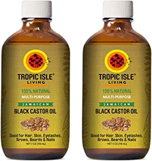 Tropic Isle Living Jamaican Black Castor Oil 4oz (Pack of 2)