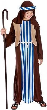 Child Green Shepherd New Fancy Dress Costume Christmas Joseph Nativity Kids Boys