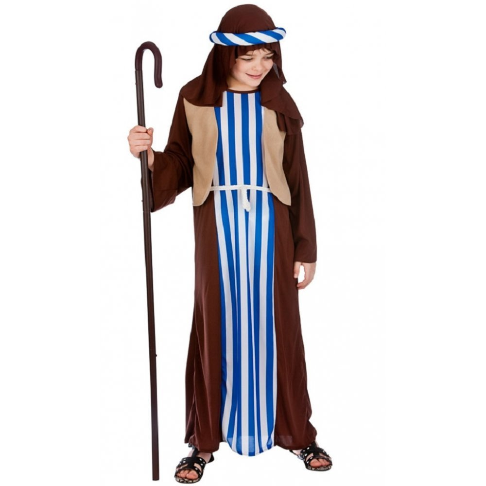 "68/"" Brown Shepherds Staff Nativity Joseph Christmas Fancy Dress Accessory"