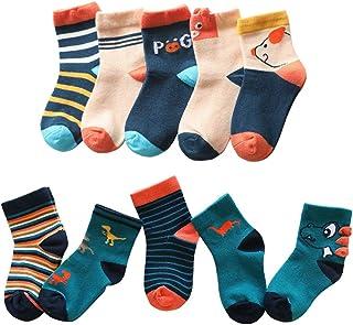 Fei Xiang - Calcetines de algodón para niñas, 10 pares