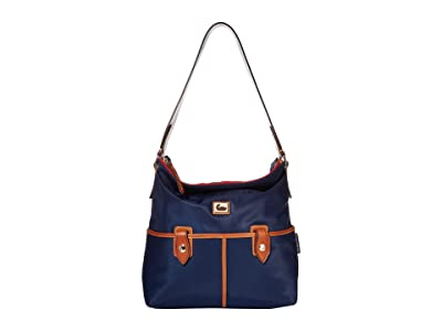 Dooney & Bourke Camden Sac (Navy/Dark Chocolate Trim) Handbags