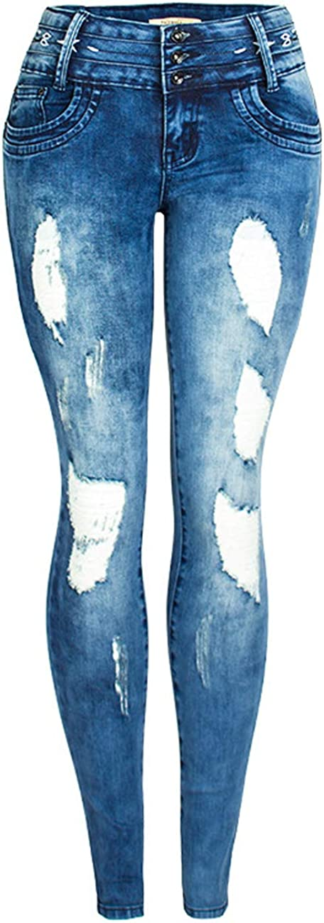 ZENTHACE Ripped Jeans for Women Skinny Jeans Stretch Comfy Distressed Denim Pants