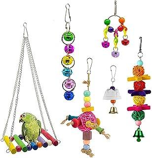 DealMux Accessoires voor parkieten, speelgoed voor papegaaien, speelgoed voor zittafels, speelgoed voor papegaaien, speelg...