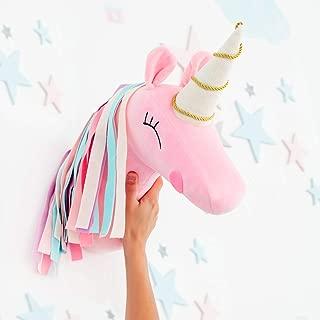 Unicorn Head Wall Mount for Room - Stuffed Animal Mounts For Wall - Unicorn Room Decor -Trophy Animal Head - Stuffed Unicorn Wall Mount Decoration
