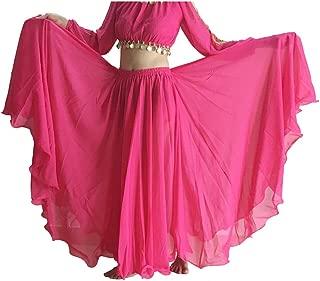 Women's Belly Dance Skirt Tribal Chiffon Full Skirt