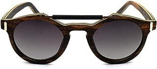Sunglasses Mirror Men Women Round Wooden Bamboo Sunglasses With Case