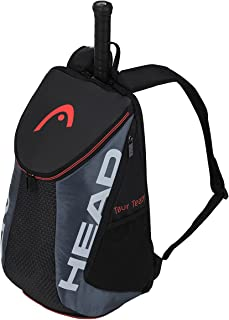 HEAD Tour Team Tennis Backpack 2 Racquet Carrying Bag w/Padded Shoulder Straps & Shoe Compartment