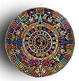 10' AZTEC CALENDAR STONE, WALL DECOR, MEXICAN DECOR, OUTDOOR WALL DECORATIONS FOR PATIO , MEXICAN WALL DECOR, MEXICAN ART WALL DECORATIONS,