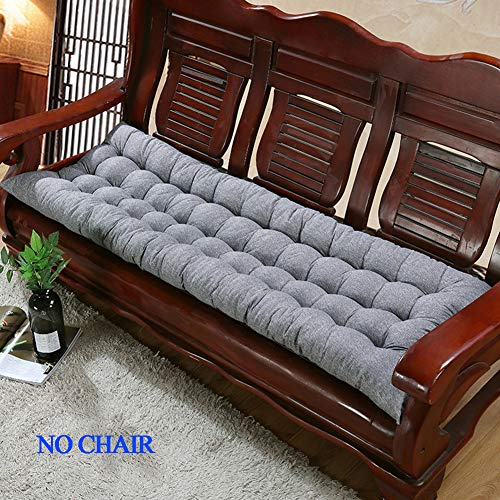 Yuly - Cuscino imbottito per panca da giardino, 2 o 3 posti, spesso per sedie, cuscino morbido per chaise dondolo in metallo e legno