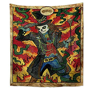 XIAOG Wall Hanging Tapestry,Aesthetic Vintage Tapestry Astrology Three of Starcoin Art Tapestry Throw Bedspread for Teen Bedroom Living Room Decor,75X90Cm 29.5X35.5In