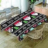 Tischdecke PVC Weihnachten Lotuseffekt Wasserabweisend Tischtuch pflegeleicht abwaschbar Tischwäsche Für Esszimmer/Küche/ Garten Tischdekoration ( 140cm x 220cm )