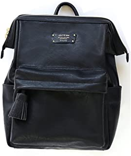 Cratte Mini Office Leather Business Backpack (Nero Black)