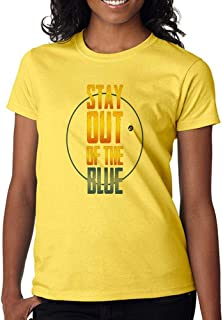 DanielDavis Gamer Fan Stay Out of The Blue Custom Made Women's T-Shirt
