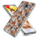 ChiChiC S8 Case Cute Cool,Galaxy S8 Case for Girls, Full Protective Slim Flexible Soft TPU Rubber Cases Cover with Art Design for Samsung Galaxy S8,Cute Cartoon Animal Brown Dogs and Cats Smile Pet