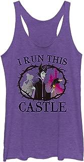 Sleeping Beauty Women's Maleficent Castle Racerback Tank Top