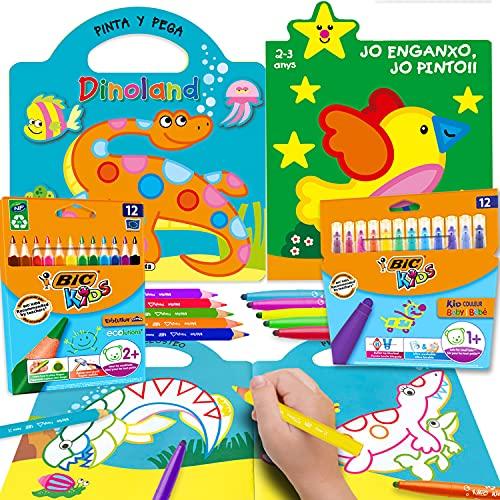 Coleset Manualidades Niños 3 Años Pinturas para Niños Rotuladores Lapices de Colores Entretenimiento Libros para Colorear Niños 2 Años Cuadernos para Colorear Niños Dibujos Colorear Papeleria