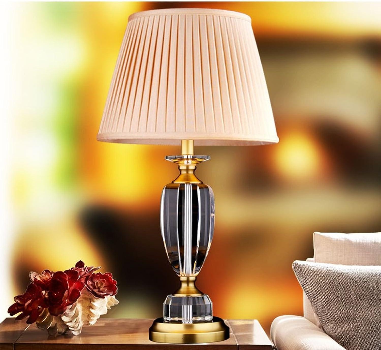 Hyun times Europäische - Style Crystal Copper Lampe Wohnzimmer Schlafzimmer Nachttischlampe Amerikanische Einfache moderne Kupfer-Lampen B074DW1SG7     | Vollständige Spezifikation
