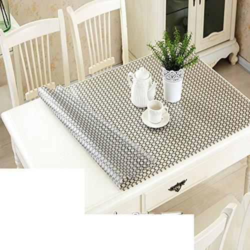 Imperméable pvc chiffon doux verre tapis imprimé nappe de coussin table basse plastique plaque de cristal anti-huile nappe-F 80x80cm(31x31inch)