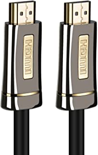 A-technology 4K HDMI Cable 100ft-High Speed 18Gbps HDMI 2.0 Cable - 4K HDR, 3D, 2160P, 1080P, Ethernet - 28AWG Braided HDMI Cord - Audio Return(ARC) Compatible UHD TV, Blu-ray,PS4/3,PC (100ft)