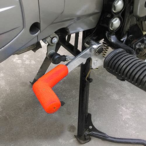 GENXTRA Imported Rubber Shiftier Sock Boot Shoe Protector Shift Cover Motorcycle Dirt bike (Orange)