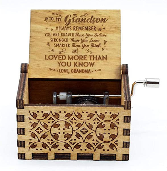 You Are My Sunshine Music Box 18 Note Hand Crank Engraved Wood Music Box For Families Grandson Grandma