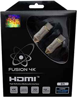 Fusion4K High Speed 4K HDMI Cable (4K @ 60Hz) - Professional Series (6 Feet)