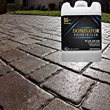 5 Gallon DOMINATOR SG+ High Gloss Paver Sealer and Decorative Concrete (Wet Look) – Solvent Free, Twice The Coverage Rate (up to 2,000 sq ft)