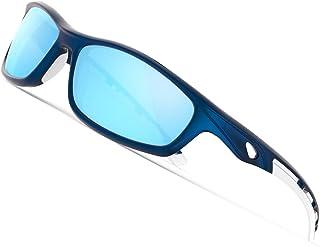 Torege 超軽量 TR90フレーム 偏光サングラス 紫外線カット 抗衝撃 男女兼用 スポーツサングラス バイク用サングラス/釣りサングラス/ゴルフサングラス/トライブサングラス TR08