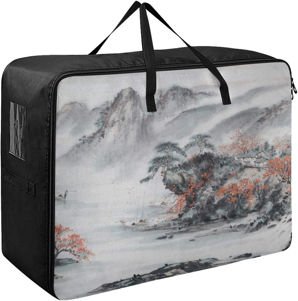Liaosax Zipper Garment Bags Chinese Painti Beautiful 55% Sales of SALE items from new works OFF Traditional