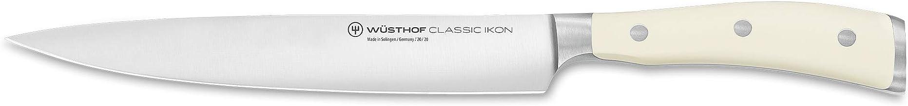 Wüsthof Schinkenmesser, Classic Ikon Crème (1040430720), 20 cm Klinge, geschmiedet, Edelstahl, rostfrei, Fleischmesser Ext...