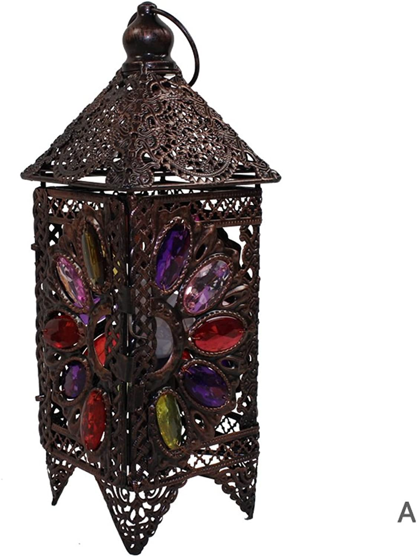 Guo Europäischen Stil Retro-Lampe Retro-Lampe Retro-Lampe Schlafzimmer Nachttischlampe Eisen Prinzessin Nachttischlampe Handcrafted Kunst Plexiglass E14 Lampe Hafen (Farbe    A) B01N7DXHPF | Einzigartig  2dfd75