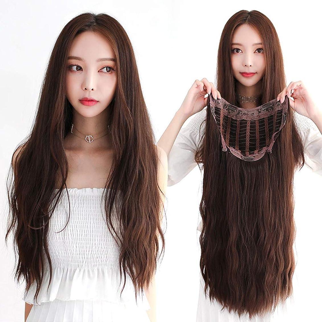 蒸留に沿って遺体安置所SRY-Wigファッション ウィッグ女性の長い髪長い巻き毛大きな波気質目に見えないシームレス現実的です