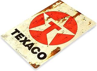 Tinworld Tin Sign Texaco Rust Oil Gas Station Metal Sign Decor Auto Shop Garage Cave A645