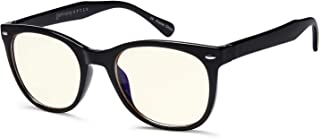 Gamma Ray Blue Light Blocking Glasses - Amber Tint Lens Reduces Eye Strain UV Glare Fatigue from Digital Screens and Offic...