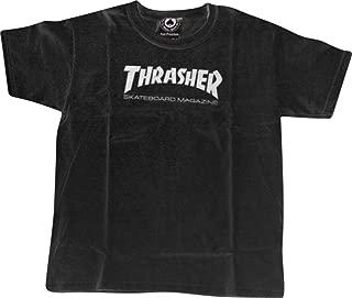 Thrasher Magazine Mag Logo Black Youth X-Small T-Shirt
