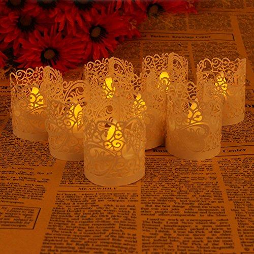 GRD 50 tück Led Papier Oder Votivkerze Kerze Halter Deko Motiv Papier Wrapper Kerzenhalter Deko...