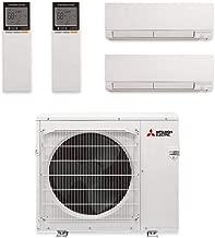 Mitsubishi MXZ-2C20NA2-U1 Multi-Split Ductless Heat Pump Outdoor Unit- 20,000BTU/H with 2 Wall Mount Mini Split Air Conditioner 9,000BTU/h(MSZ-GL09NA-U1)