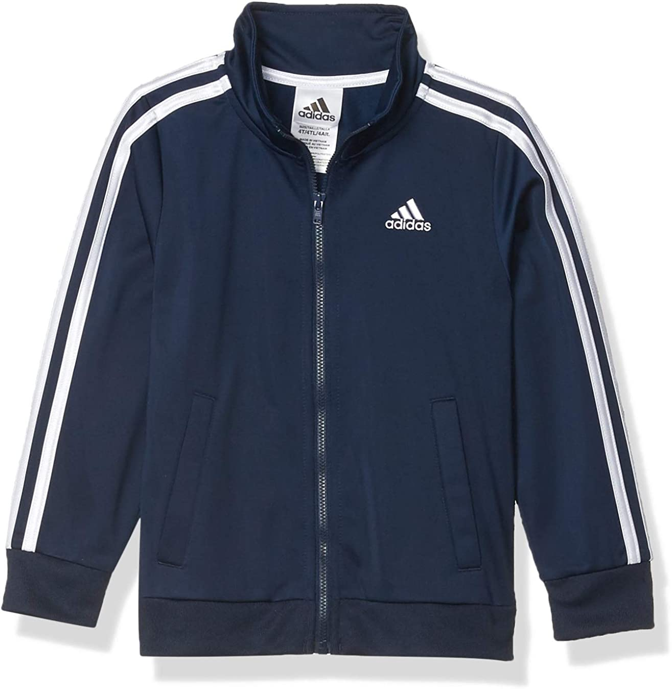 adidas Boys' Plus Fashionable Mesa Mall Size Zip Front Iconic Jacket Tricot