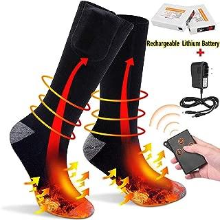 Hongtianyuan Calcetines T/érmicos El/éctricos,Ajustable Tres Clase del Temperaturade Calcetines,Recargables Calcetines T/érmicos para Hombre,para Invierno Esqu/í Senderismo Pesca C/ámping.