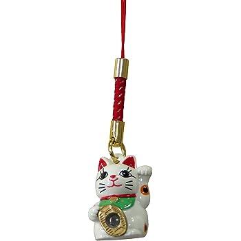 [ヒラバヤシ] Hirabayashi のぞき 招き猫 お守り 金運 開運 まねきねこ ストラップ 根付 日本製