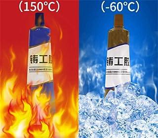 chenzhihui Pegamento de Soldadura, Pegamento de Soldadura de Cemento plástico, Adhesivo de reparación de Metal Tanque de radiador automático de Acero de Hierro 65g A Plus B Metal