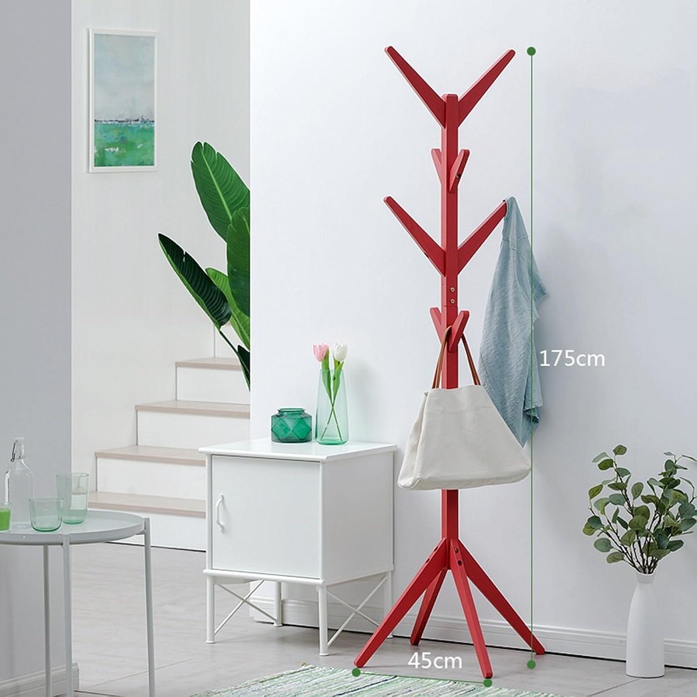 Xiao Mi Guo Ji- Coat Rack - - Solid Wood Simple Floor Coat Rack, Bedroom, Living Room Storage Coat Rack (Size 175X45 cm) Creative Coat Rack (color   B)